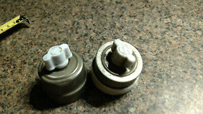 2 vintage on off white porcelain switches nickel plate lamp parts antique