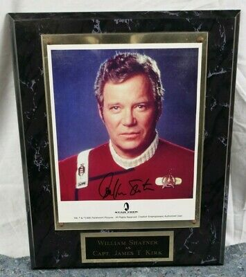 William Shatner Captain James T. Kirk from Generations- Autographed Wall Plaque