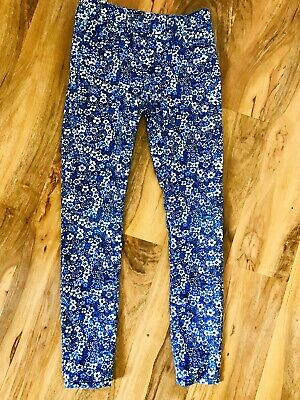Gorgeous Girls Next Blue Floral Pattern Skinny Jeans Age 9 Yrs.
