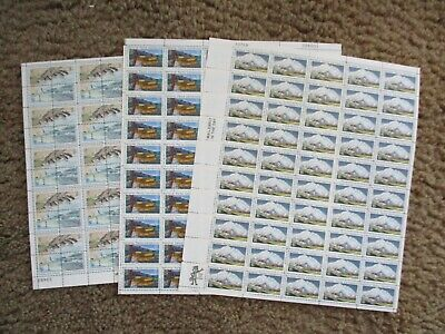 Lot Of 3 Different Full Sheets Of National Parks Centennial Stamps (2, 6 & 15)