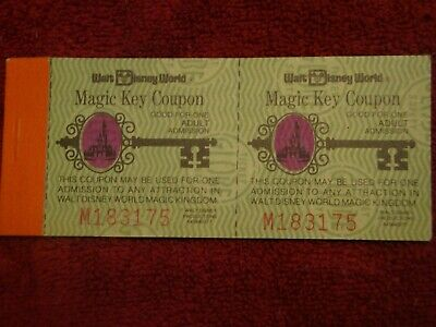 Disneyworld Complete Magic Key Ticket Book With All 10 Original Tickets M183175