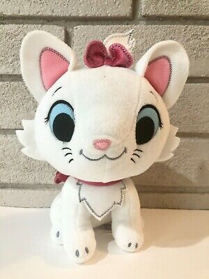 Disney Store Furrytale Friends Marie Plush! Soft Stuffed Toy White & Pink CLEAN~