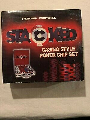 STACKED CASINO STYLE POKER CHIP SET 200 pc. 11.5g Professional Dual Toned - New