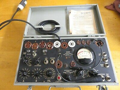 WORKING Vintage Signal Corps / Supreme Tube Tester Model  I - 177 - B