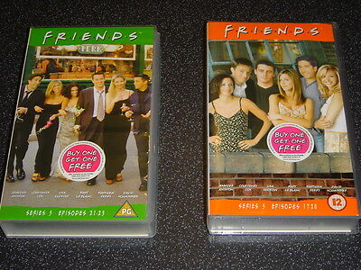 FRIENDS Series 5 – set of 2 VHS tapes. Episodes 17-20 & 21-23
