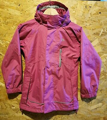 Girls' Trespass TP50 Waterproof Windproof PINK Winter Ski Jacket Age 7-8 School