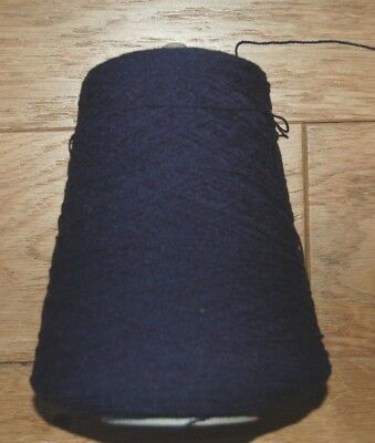 machine knitting navy blue acrylic yarn 12.4 oz. new