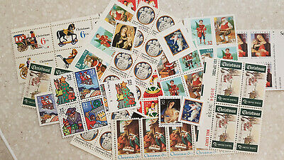 $10.00 face VINTAGE CHRISTMAS Stamps, many denominations - Dress Up Holiday Mail