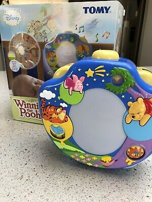 Tomy Disney Winnie The Pooh Cot Night Light Projector Music Lights Sounds