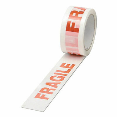 FRAGILE TAPE LONG LENGTH PACKING STRONG - BROWN CLEAR 48mm x 66M PARCEL TAPE