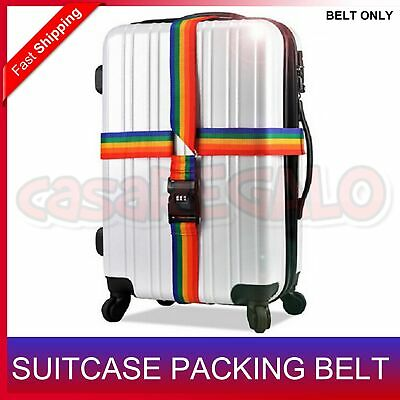 Adjustable Luggage Cross Strap Packing Belt Safe Code-lock Suitcase Buckle 2-4m