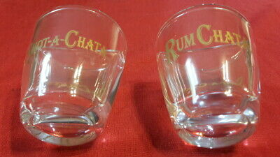 2 RumChata Shot-A-Chata Split Shot Glasses with Drink Recipes FREE SHIPPING!