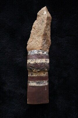 Aboriginal Stone Knife w Resin and Wooden Handgrip - Camfield Station NT 1950's