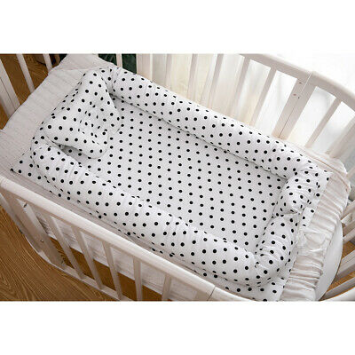 Baby Bassinet Black Dot Baby Lounger Bed Bassinet Newborn Baby Portable Crib