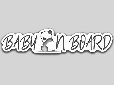 Baby On Board (baby Panda) - baby on Board White cute elegant Decal