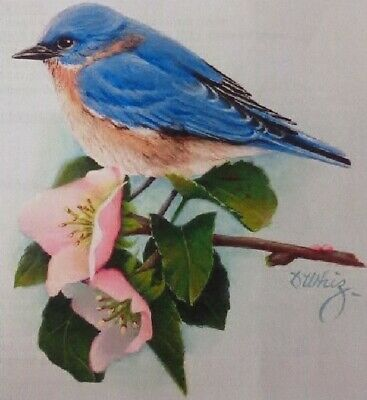 "Dorothy Whisenhunt tole painting pattern ""Bluebird & Peach Blossoms"""