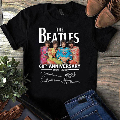 Vintage The Beatles 60th Anniversary 1960-2020 Tee-shirt Reprint S-4XL P176