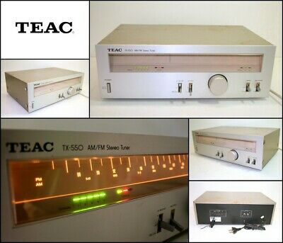 Vintage TEAC TX-550 AM/FM Stereo Analogue Tuner High End (1981) Made in Japan
