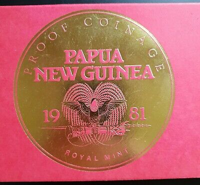 1981 Papua New Guinea: Proof Set in Royal Mint Package, Scarce...