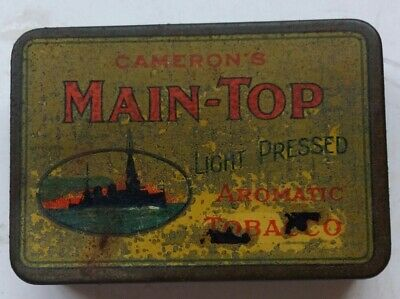 Camerons Main Top Light Pressed Aromatic Tobacco 2Oz Tin In Very Good Condition