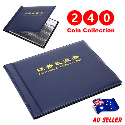 2X 240 Coin Album Book Holder Collection Storage Collecting Money Penny Pockets