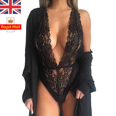 Sexy Women Lady Nightgown Bodysuit Lingerie Underwear Lace Nightwear Bodydoll UK