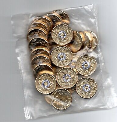 2019 $2 dollar Police Remembrance, Mint Bag of 25 Coins-FREE REGISTERED POST