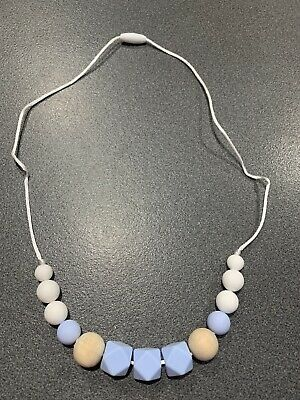 Womens chewable baby necklace - silicone/wooden beads - baby shower gift.