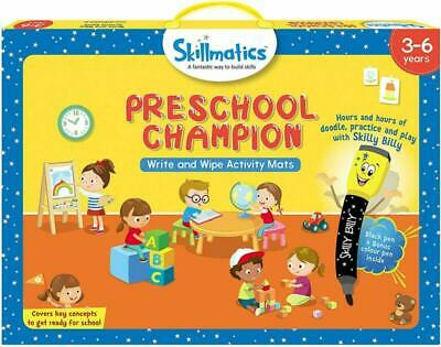Educational Game PreMath Numbers Erasable Reusable Activity Mats Learning Tools