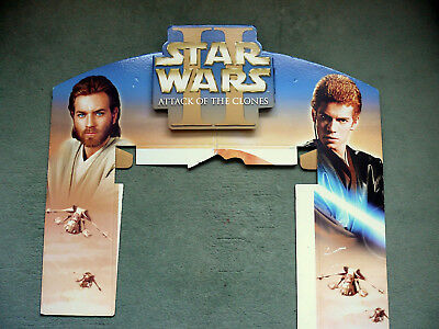 Star Wars Episode II DVD Promotional Display Board