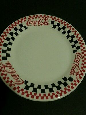 Coca-Cola Red Black & White Checkered dinnerware by Gibson