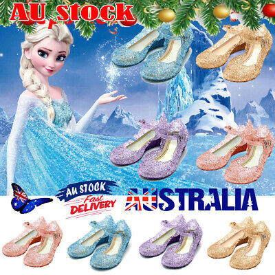 Toddler Kid Girl Frozen Princess Elsa Christmas Party Sandal Crystal Jelly Shoes