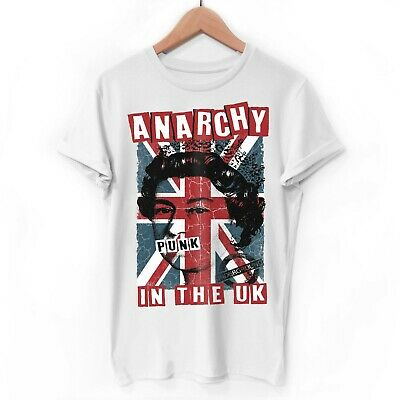 Anarchy in The UK Punk Rock T-Shirt rotten mens white