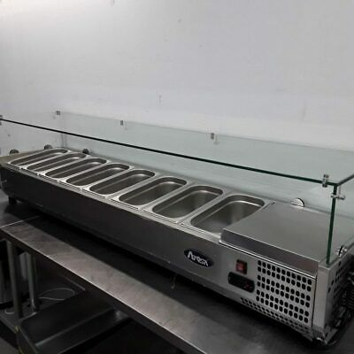 Commercial Pizza Topping Fridge 8 Pan Chiller Atosa