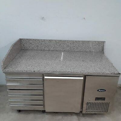 Commercial Bench Fridge Marble Pizza Chiller Drawer Atosa EPF3490