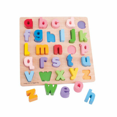 Bigjigs Toys Chunky alfabeto in legno Puzzle (minuscolo) Educational