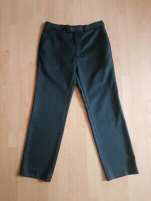 "Mens Smart Black Wool Trousers By Next W32"" L31"""