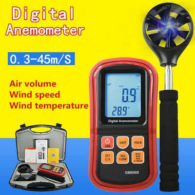 Portable Digital LCD Anemometer Wind Speed Velocity Meter Thermomoter Backlight