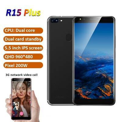 "5.5"" Android Unlocked Cheap Mobile Smart Phone Quad Core Dual SIM WiFi 3G GPS"