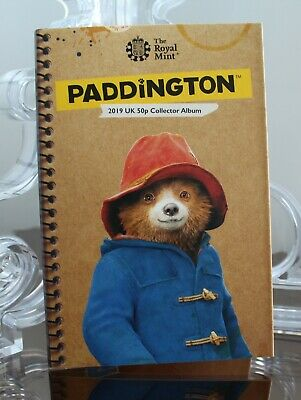 NEW 2019 Royal Mint Paddington Bear 50p Coin Collector Album Folder