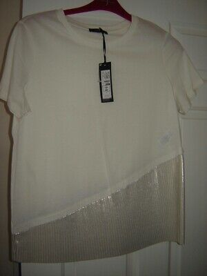 Womens M&S Autograph Loose Fitting Top, Sparkle Pleats, Size 14 Nwt Cost £25.00.