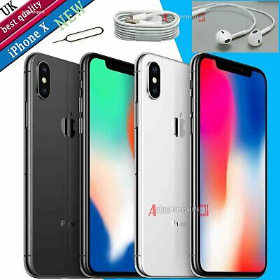 Smartphone Apple iPhone X TEN (iPhone 10) NEW Unlocked SIM Free 256GB 64GB UK
