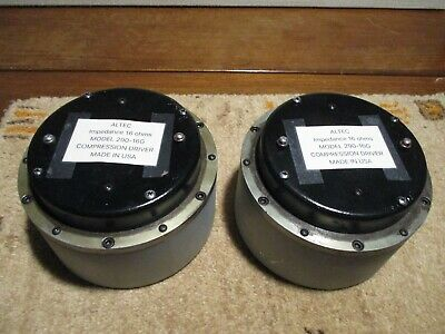 altec 290 compression driver pair 16 ohm good condition vintage VOTT alnico