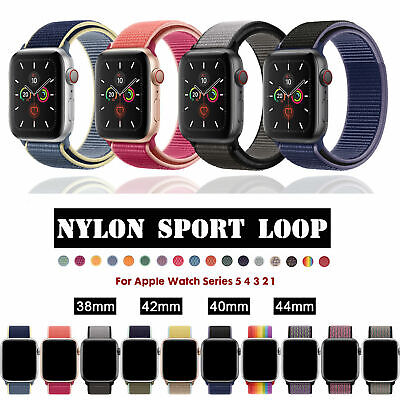 Für AppleWatch Nylon Armband Sport Loop Series 1 / 2 / 3 / 4 / 5 38/40/42/44mm