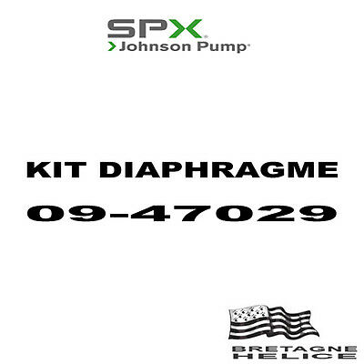 Kit Diaphragme Pour Pompe Johnson Wps 2.4/2.5 09-47029