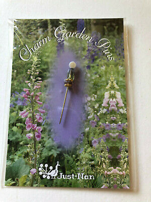 Just Nan- Charm Garden Pin- Tall Feathers- OOP