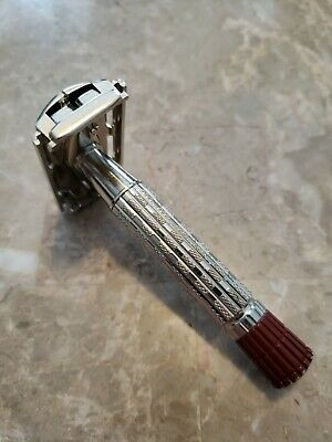 💈Vintage 1959 E2 Gillette Red Tip Super-speed TTO DE Safety Razor 🇺🇸