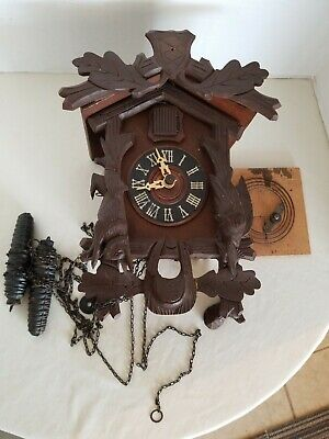 Vintage Cuckoo Clock Animals Leaves  Parts Only