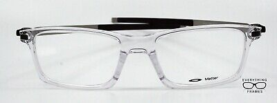 Oakley OX8050 0253 Pitchman Clear Eyeglasses New Authentic 53