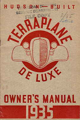 1935 Hudson Terraplane Original Owner's Manual